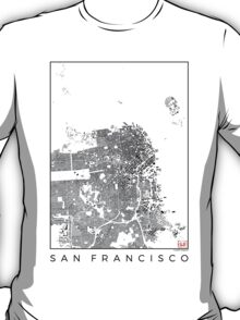 San Francisco Schwarzplan T-Shirt