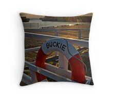 """Harbour Horizons""  Buckie Harbour, Moray Firth Throw Pillow"