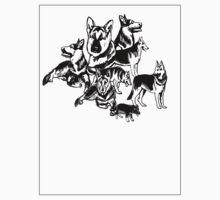 German Shephed Dog collage by IowaArtist