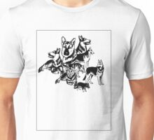 German Shephed Dog collage Unisex T-Shirt
