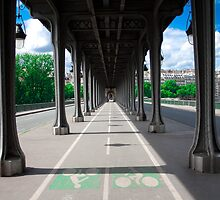 Paris : Bir Hakeim Bridge by kyokugen