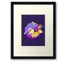 See You Space Corgi Framed Print