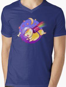 See You Space Corgi Mens V-Neck T-Shirt
