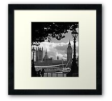 Parliament (a view from the South Bank) Framed Print