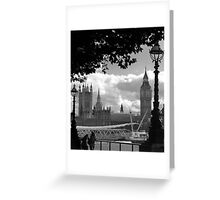 Parliament (a view from the South Bank) Greeting Card