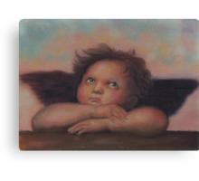 Cherub in pastels, after Raphael Canvas Print