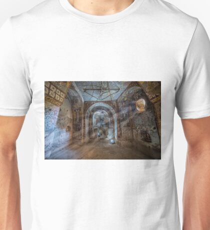 A carved volcanic rock church Unisex T-Shirt