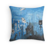 A Message To Ned Kelly Throw Pillow