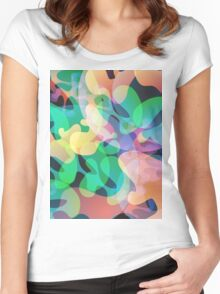 Abstract multi color background. Women's Fitted Scoop T-Shirt