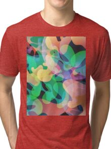 Abstract multi color background. Tri-blend T-Shirt