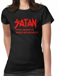 Dead Trend 2011: Vote Satan! Womens Fitted T-Shirt