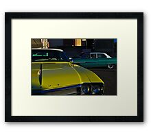 Yellow Buick Framed Print