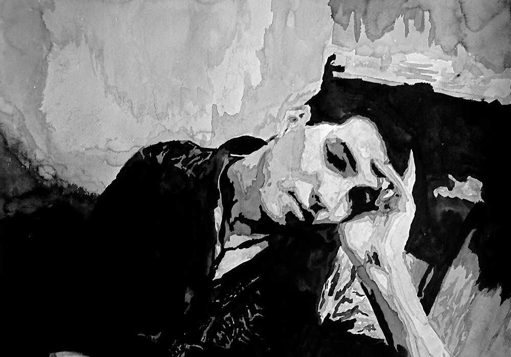 Portrait of a man resting by Kelly S