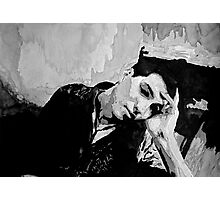 Portrait of a man resting Photographic Print