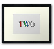BBC TWO Framed Print