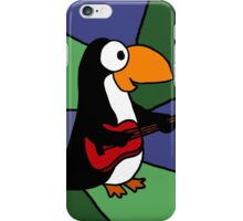 Awesome Penguin Playing Red Guitar iPhone Case/Skin