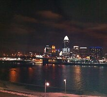 Cincinnati at night by Flipbrook