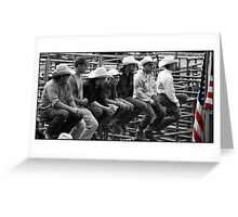 waiting for rodeo Greeting Card