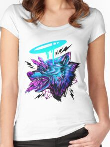 Crystal Wolf  Women's Fitted Scoop T-Shirt