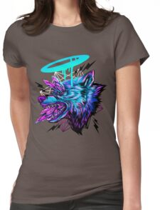 Crystal Wolf  Womens Fitted T-Shirt