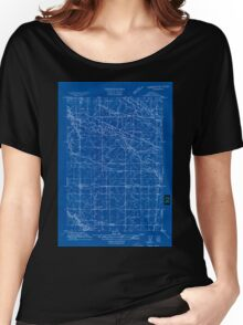 USGS Topo Map Oregon Tangent 282190 1911 31680 Inverted Women's Relaxed Fit T-Shirt