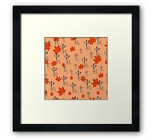 Hand drawn seamless chinese pattern.  Framed Print