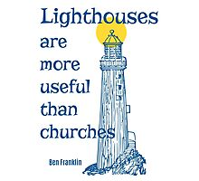 Lighthouses More Useful Than Churches Photographic Print