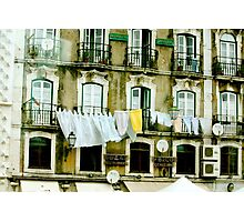 Lisbon Laundry Photographic Print