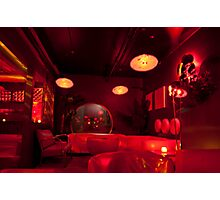 Inside Andy Poolhall (Ciao Edie) Early On A Saturday Night Photographic Print