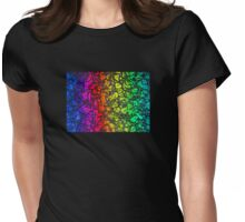Rainbow Leaves Womens Fitted T-Shirt