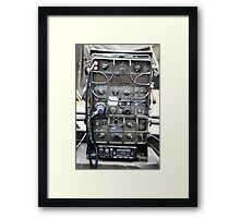 Vintage Military radio , US Army Signal corps , WWII Framed Print