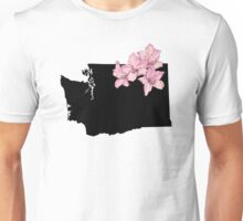 Washington Silhouette and Flowers Unisex T-Shirt