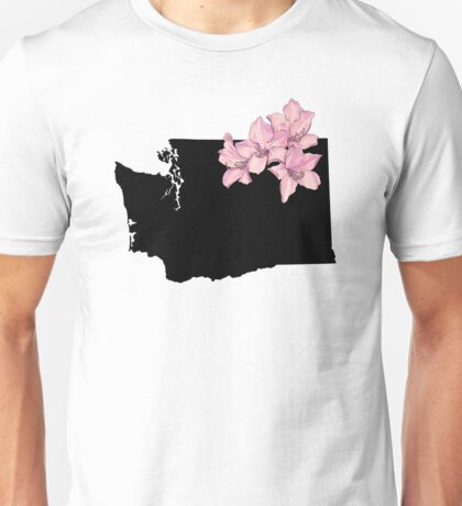 Washington Silhouette and Flowers Unisex T-Shirt