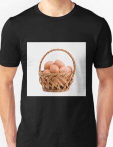 eggs in wicker basket  T-Shirt