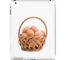 eggs in wicker basket  iPad Case/Skin