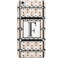 1920s Pink Champagne Gatsby Monogram letter F iPhone Case/Skin