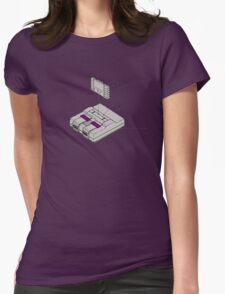 SNES and Cartridge Womens Fitted T-Shirt