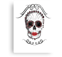 Lipstick Skulla Canvas Print