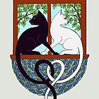 Two Cat Window by ingridthecrafty
