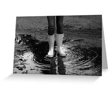 Rainboots on a Rainy Day Greeting Card