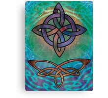 A Colourful Celtic Cross Filled with Stars Canvas Print