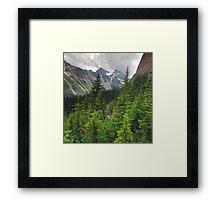 Ranges and trees Framed Print