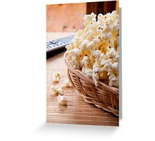 basket full of many crunchy popcorn Greeting Card