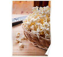 basket full of many crunchy popcorn Poster