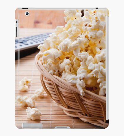 basket full of many crunchy popcorn iPad Case/Skin