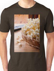 basket full of many crunchy popcorn Unisex T-Shirt