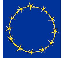 EU Barb Wire Photographic Print