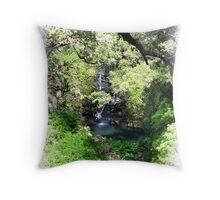 Tropical Shangri-La Throw Pillow