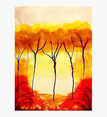 Is it Fall,,yet? watercolor Photographic Print