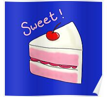 Sweet Strawberry Cake Poster